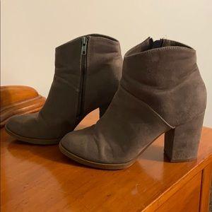 Suede grey booties